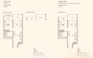 1 Bedroom Kandis Residence Floorplan