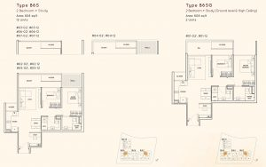 2 Bedroom + Study Kandis Residence Floorplan